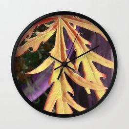 Leaf Study 1 Wall Clock