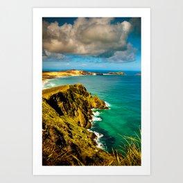 Overlooking the bay Art Print