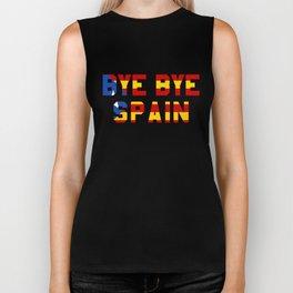 Bye Bye Spain Catalonia Independence Biker Tank