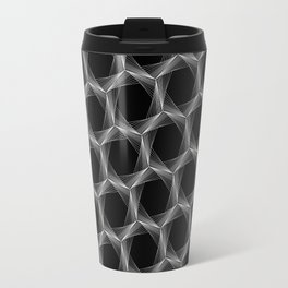crazy hexagons (reverse) Travel Mug