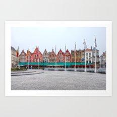 Brugge In Colour Art Print