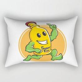 Bottle Cartoon Mascot Character brawny Rectangular Pillow