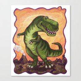 Animal Parade Tyrannosaurus Canvas Print