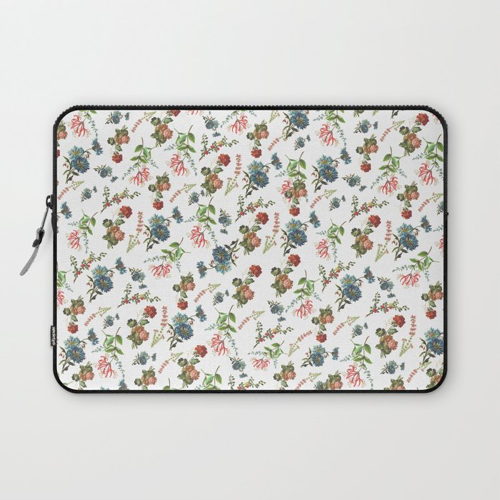Antique Floral Pattern Laptop Sleeve