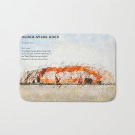 Uluru, Ayers Rock Bath Mat