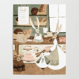 Bunny Bakery Poster