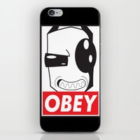 invader zim iPhone & iPod Skins featuring Obey Zim by Omitted