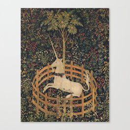 HD Trapped Unicorn Medieval Tapestry Canvas Print