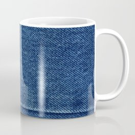 Blue Jean Texture V4 Coffee Mug