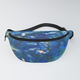 Blue Green Texture Fanny Pack