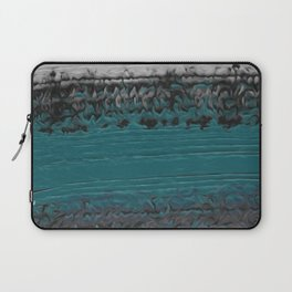 Teal and Gray Abstract Laptop Sleeve