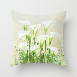 Calla Lily In White Throw Pillow