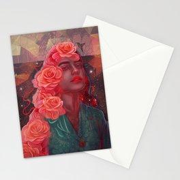 Flower spell Stationery Cards