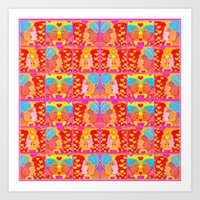 Forms of Love Quilt Art Print