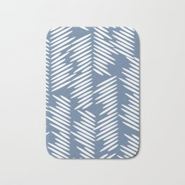 Leaves abstract in blue Bath Mat