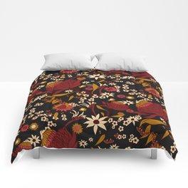 Australian Natives Red Blossom Comforters