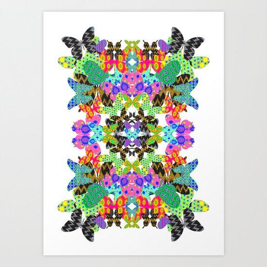 Butterfly Mirror Art Print