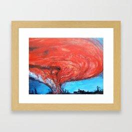 FIRE BALL Framed Art Print