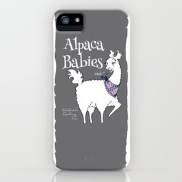 Alpaca Babies iPhone Case
