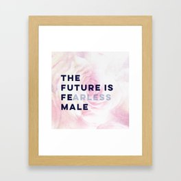 The Future is Female #girlboss #empowerwomen Framed Art Print