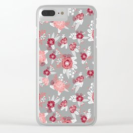 Floral Bama alabama crimson tide gifts for university of alabama students and alumni Clear iPhone Case