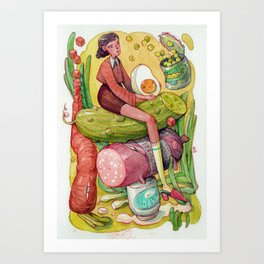 Russian Salad  Art Print