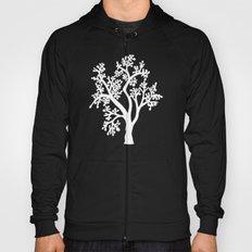Solo Tree White on Black Hoody