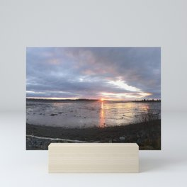 Panoramic Sunset on the Cove Mini Art Print
