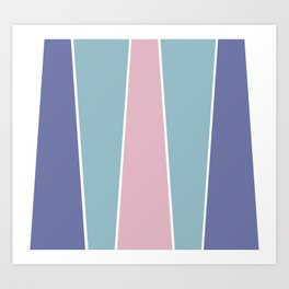 Cotton Candy Color Block Art Print