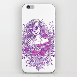 Sexy Woman zombie WITH Flower -  Carla - Vivid Violet - Lavender iPhone Skin
