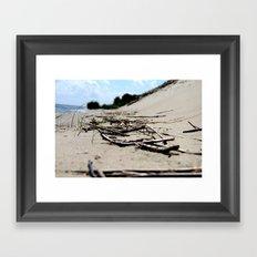 sea ans sand Framed Art Print