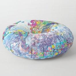 world map colors splats 2 Floor Pillow