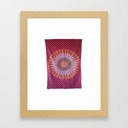 Mandala Wall Art Tapestry Framed Art Print