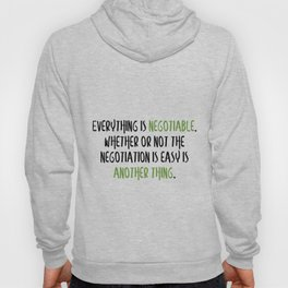 Carrie Fisher Negotiable Quote Hoody