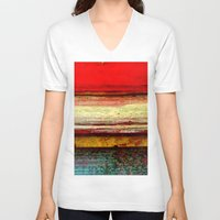 bali V-neck T-shirts featuring Sunset in Bali by Sreetama Ray
