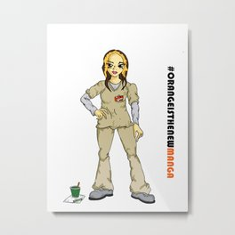 #Orange is the new Manga - Daya Diaz Metal Print