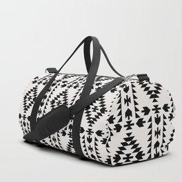 GEO PANEL WHITE Duffle Bag