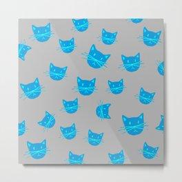BLUE KITTYS Metal Print