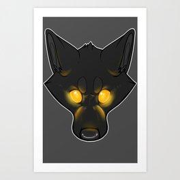 The Bad Dog-Orange Art Print