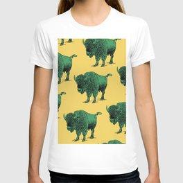 bison pattern T-shirt