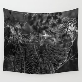 Morning Dew On Spiders Home Wall Tapestry