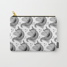 MAGICAL DREAMING UNICORN - BLACK AND WHITE Carry-All Pouch
