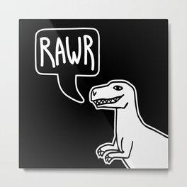 RAWR Dinosaur illustration Metal Print