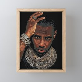 𝐇.𝕋.Ǥ.b.ㄚ. Rap Hip Hop Society6 Fabolous - Greg Yuna Jewelry Rap Music Hip Hop NYC Brooklyn 87k Framed Mini Art Print