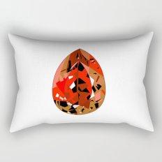 GEMS - red , velvet , orange , rubin Rectangular Pillow
