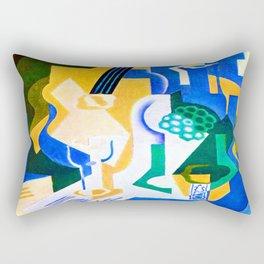 Juan Gris Fruit Bowl and Mandolin Rectangular Pillow