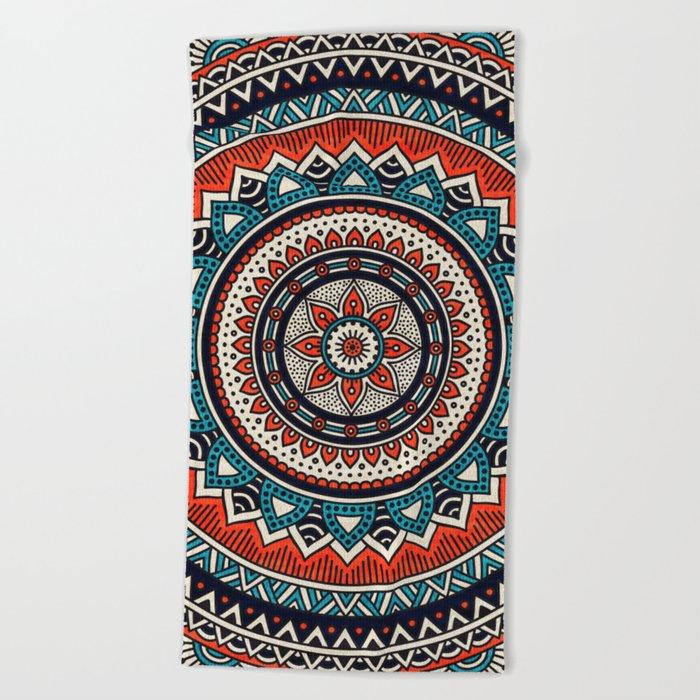 Hippie Mandala 8 Beach Towel