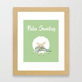 Palm Sunday Lamb Of God Framed Art Print