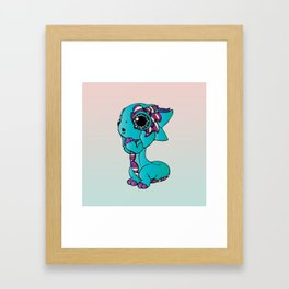 Baby Dragon in Bright Colors Framed Art Print