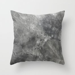 craters on the moon Throw Pillow